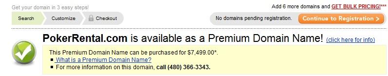 godaddy premium listing example