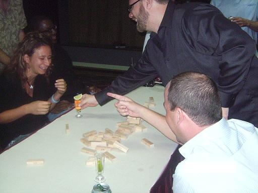 Natasa D. loses at Jenga, Drink up!