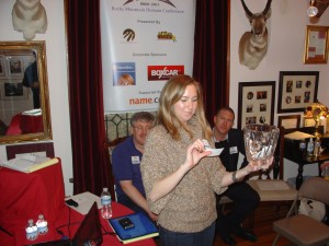 Ashley Forker of Name.com Draws for the Door Prize